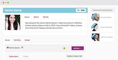 Features creator profile