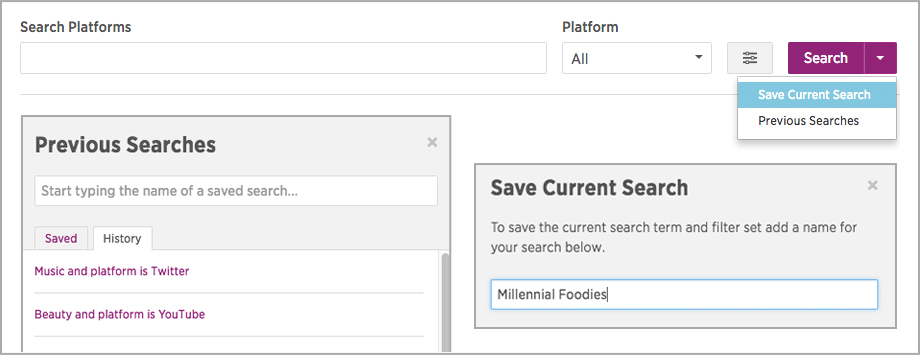 platform search