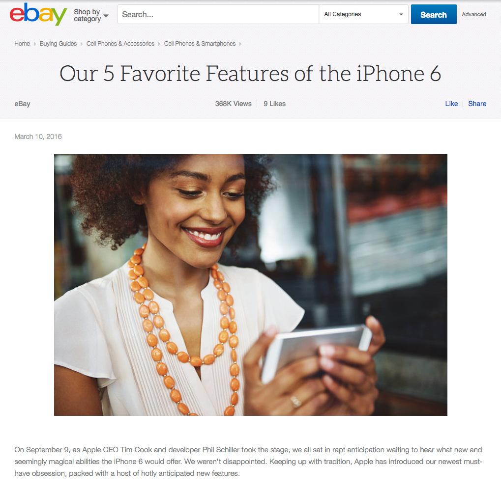 Custom Content Ebay
