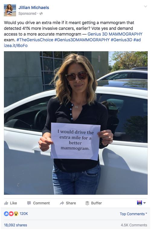 Jillian Michaels Influencer Promoted Posts
