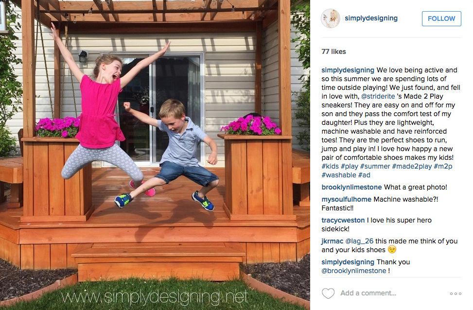 Product Sampling stride rite instagram