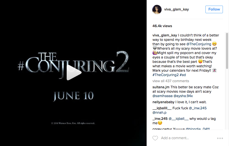 Sponsored Shares The Conjuring 2