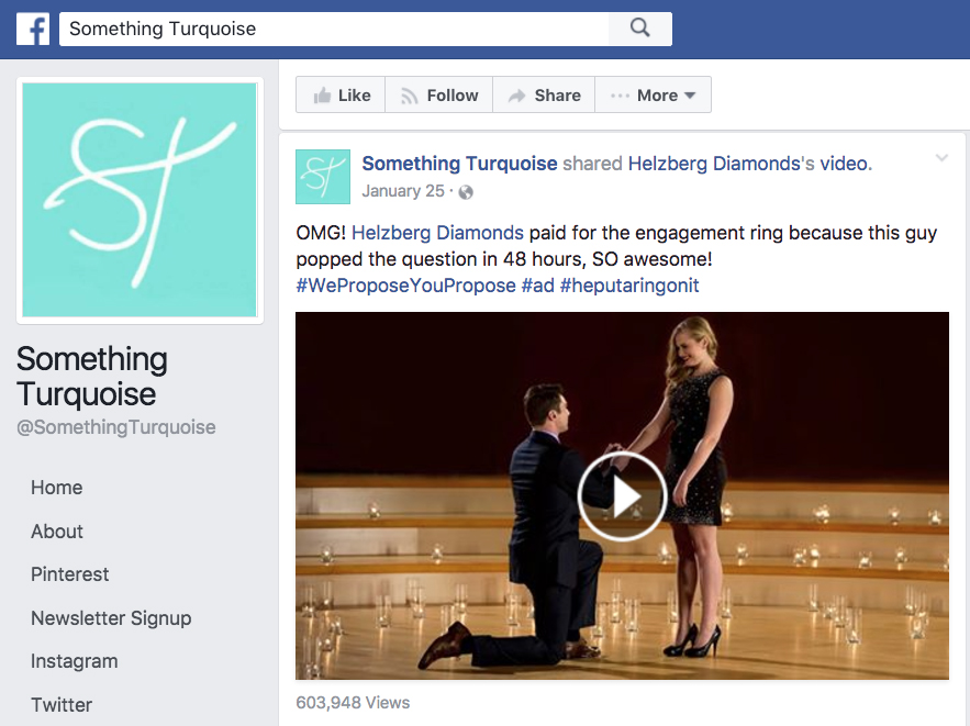 Sponsored Shares Something Turquoise Sponsored Share