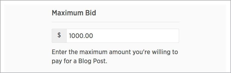 Open Bidding Budget Optimization