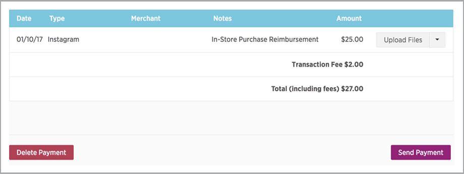 IZEAPay expense management