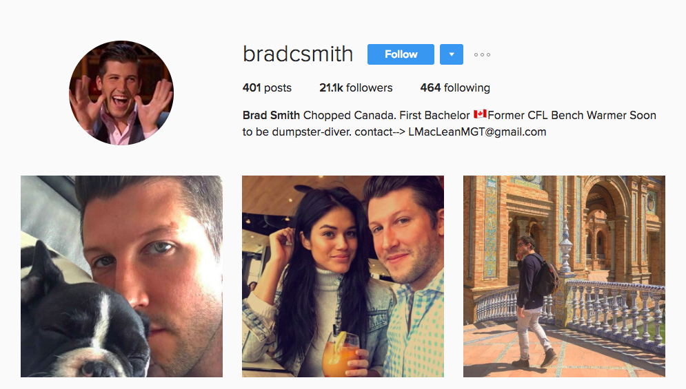 Brad Smith Canadian Social Media Influencer