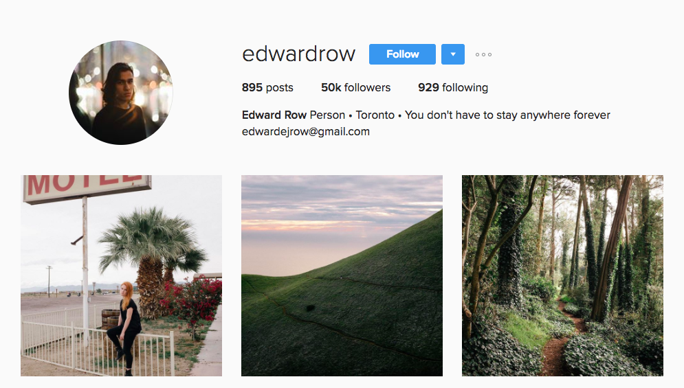 Edward Row Canadian Social Media Influencer