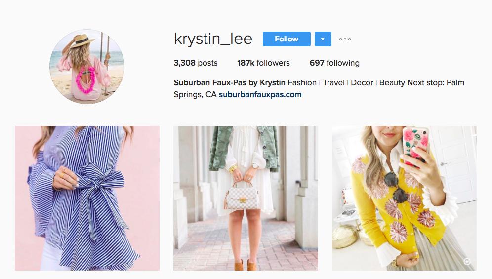 Krystin Lee Canadian Social Media Influencer