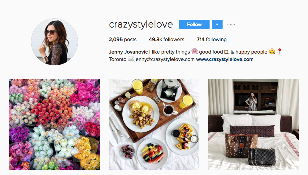 Canadian Social Media Influencer Jenny Jovanovic