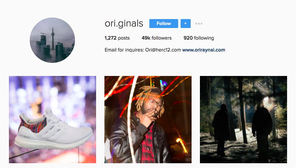 Canadian Social Media Influencer Ori Raynai