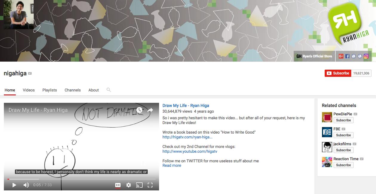 Ryan Higa Top YouTube Influencer