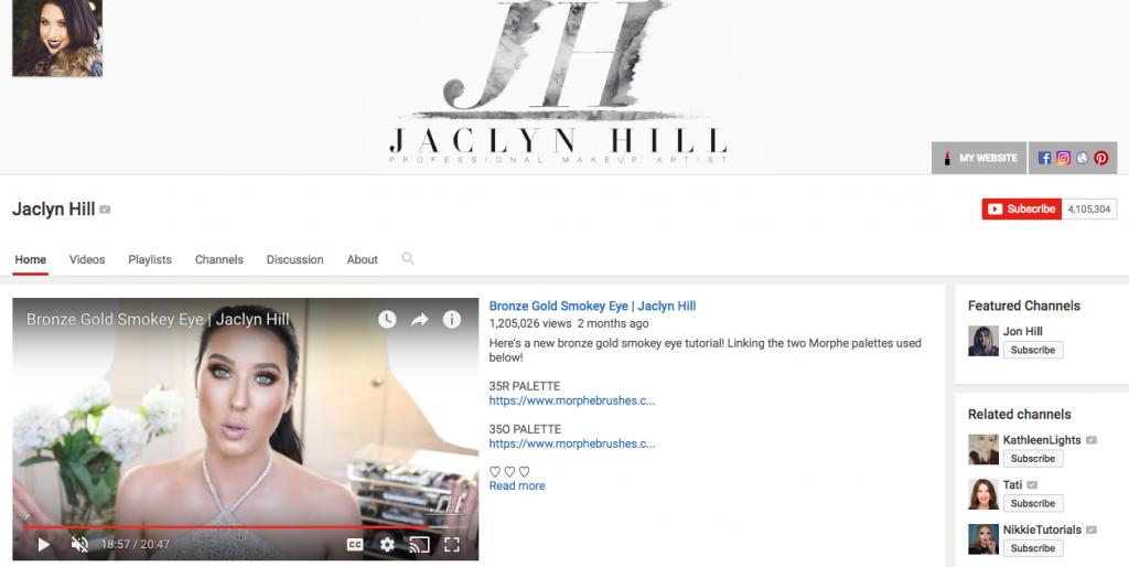 Jaclyn Hill Top Beauty Influencer