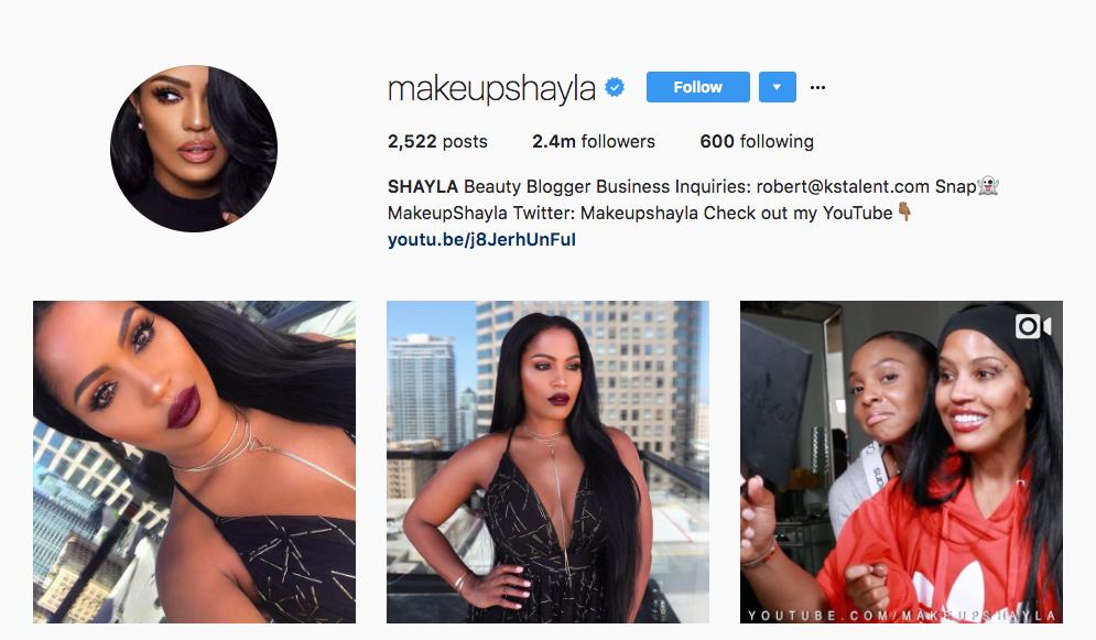 Shayla beauty influencer