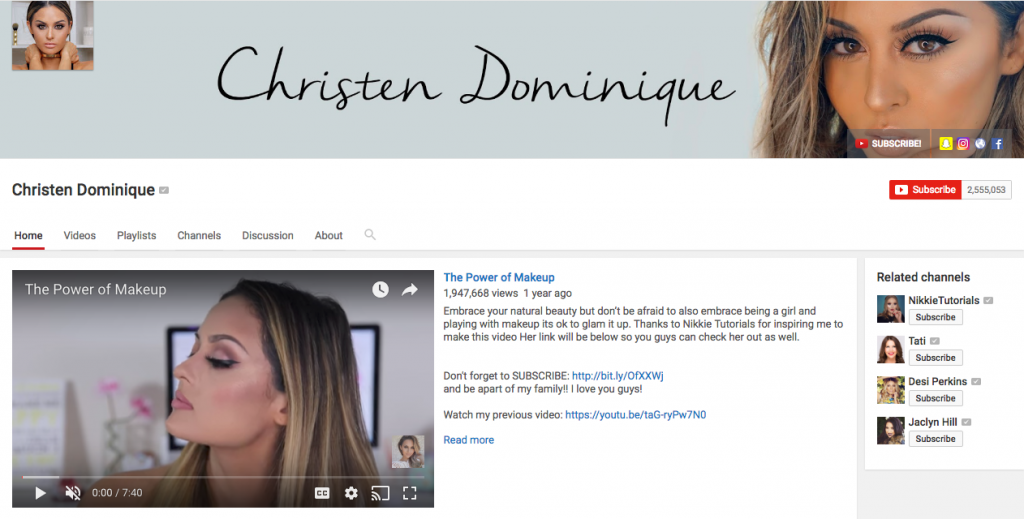Christen Dominique Top Beauty Influencer