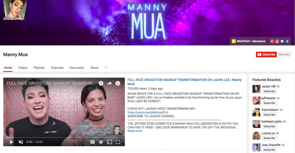 Manny Mua Top Beauty Influencer