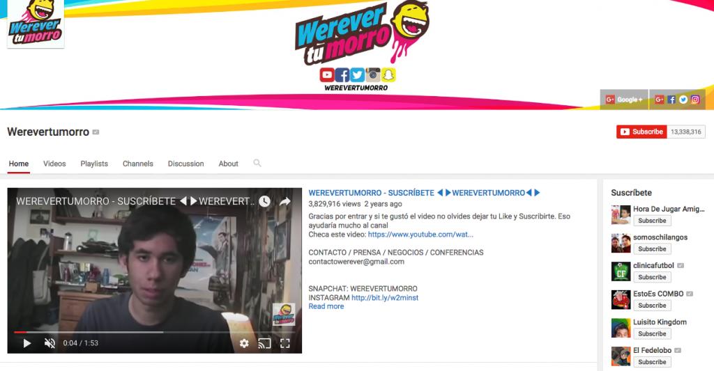 Werevertumorro Top Hispanic Social Media Influencer