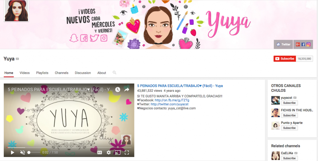 Yuya Top Hispanic Social Media Influencer