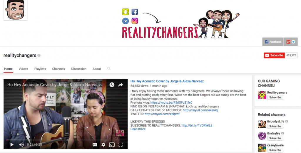 Reality Changers to hispanic social media influencer