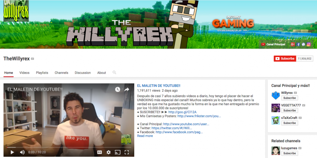 TheWillyrex top hispanic social media influencer