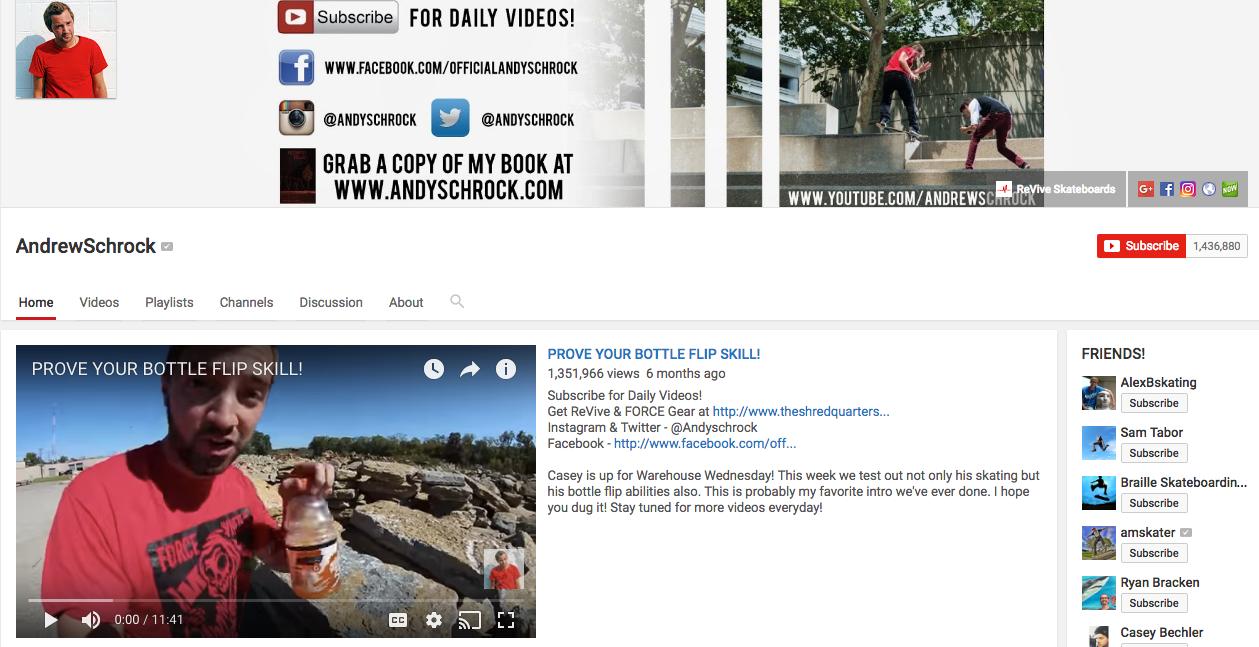 Andrew Schrock YouTube Influencer