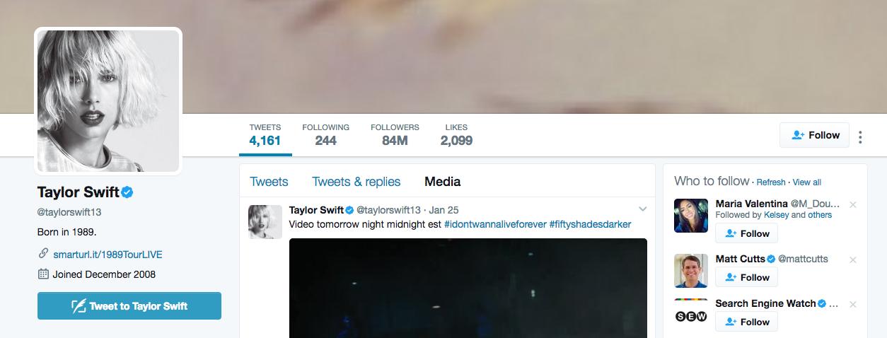 Taylor Swift Top Instagram Influencer