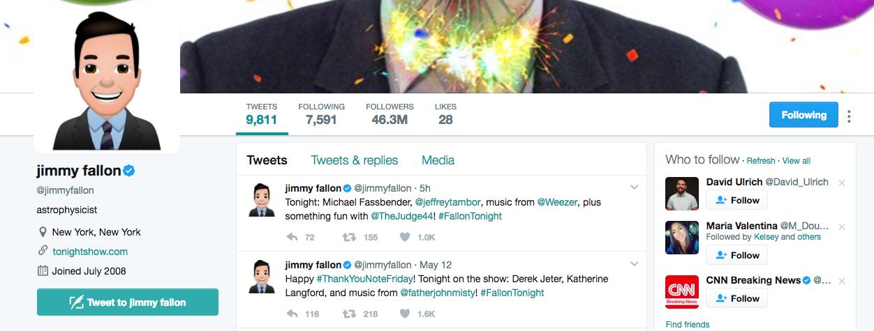 Jimmy Fallon Top Twitter Influencer