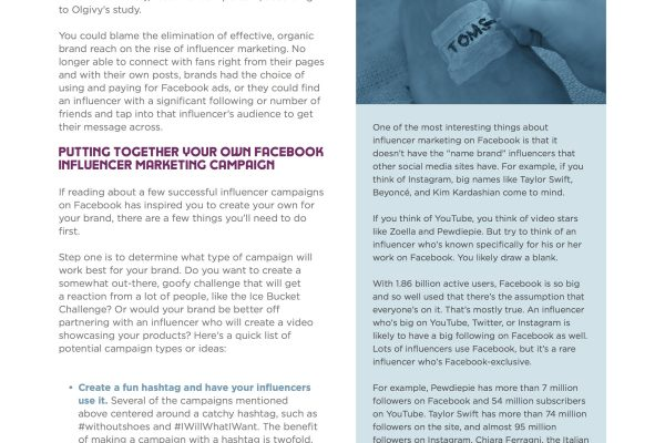 Influencer Marketer Guide to Facebook feature page 3
