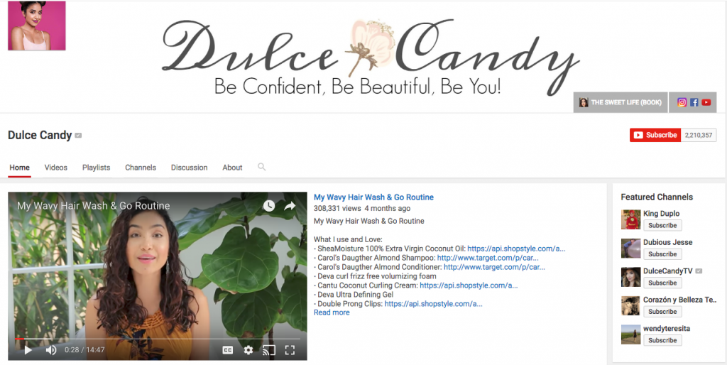 Dulce Candy Top Hispanic Social Media Influencer