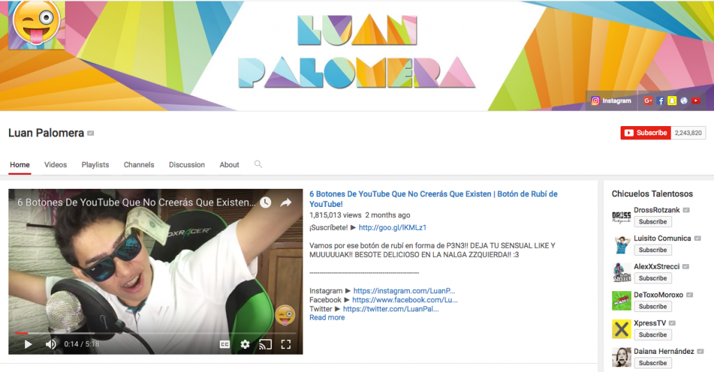 Luan Palomera Top Hispanic Social Media Influencer
