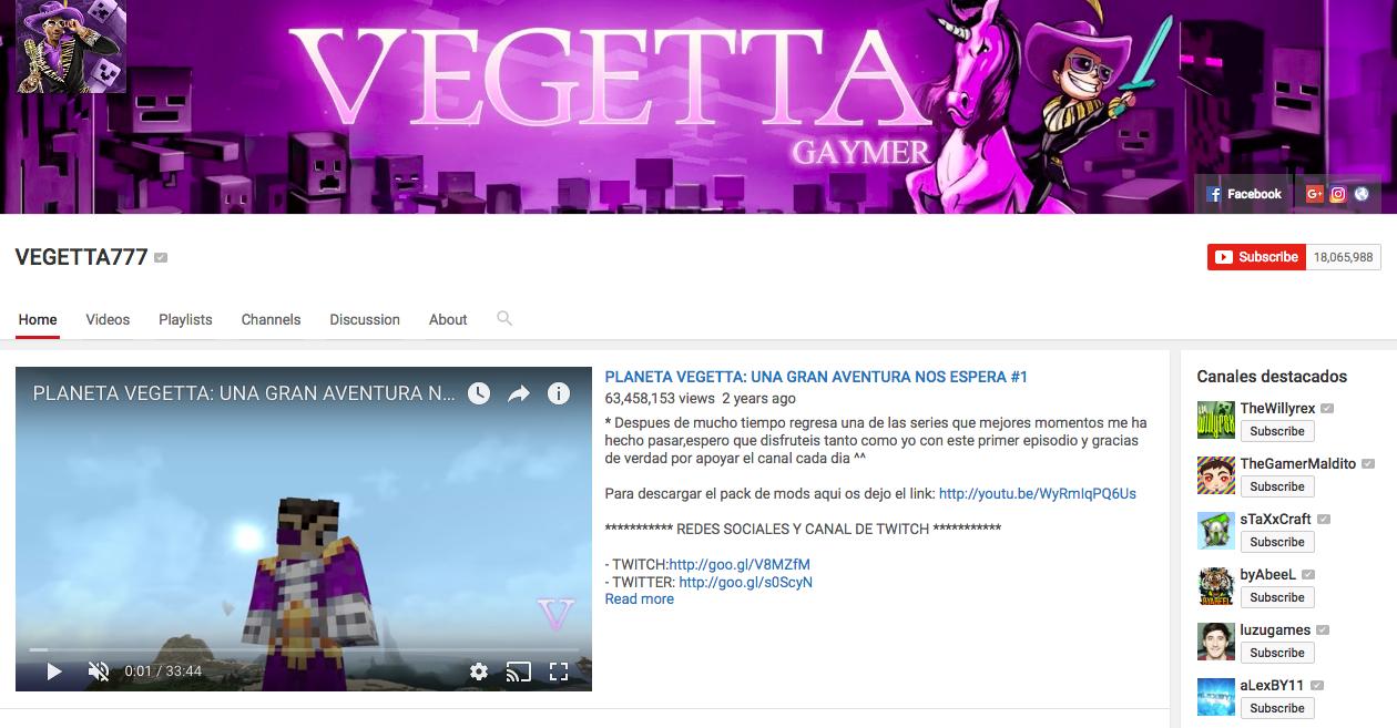 Vegetta777 Top Hispanic Social Media Influencer