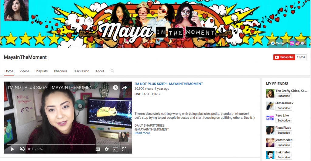 Maya In The Moment Top Hispanic Social Media Influencer