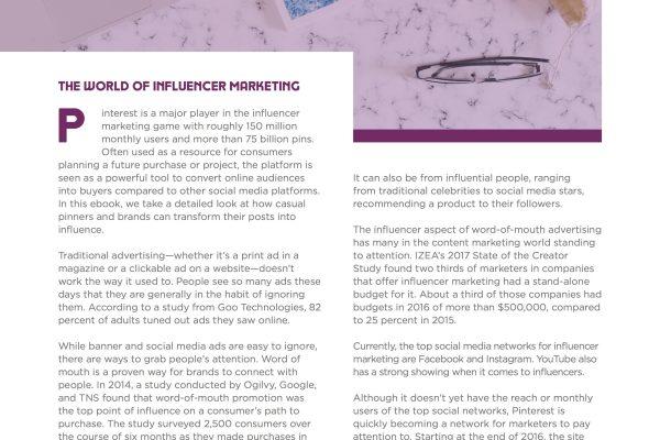 Pinterest Influencer Marketing Ebook 1