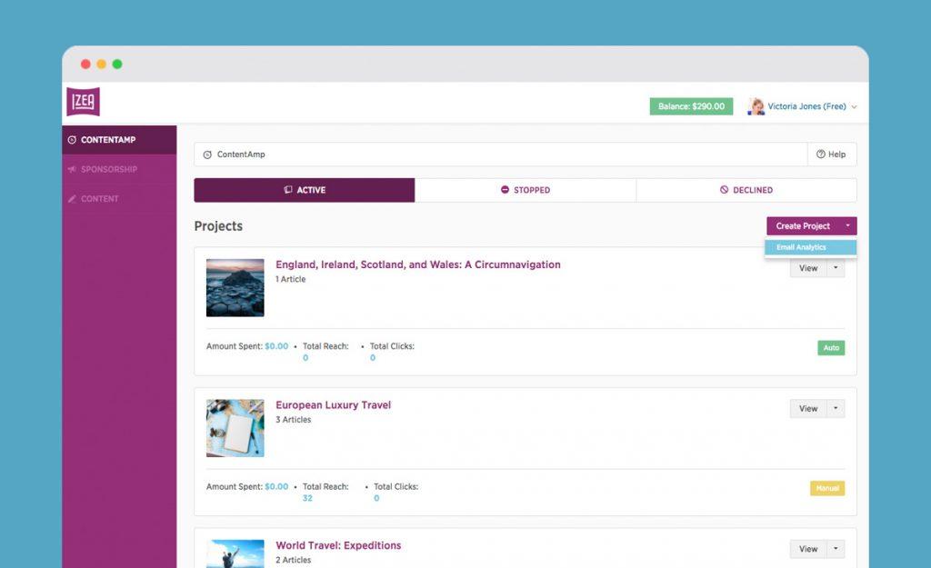 IZEAx Product Update 2.8 ContentAmp