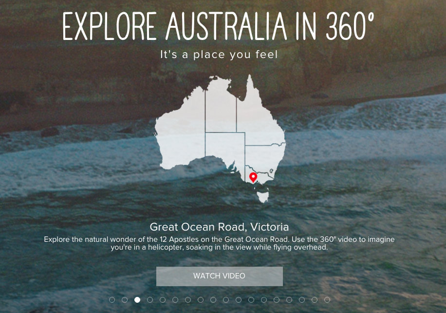 Australia 360 Video Interactive Content Marketing Examples