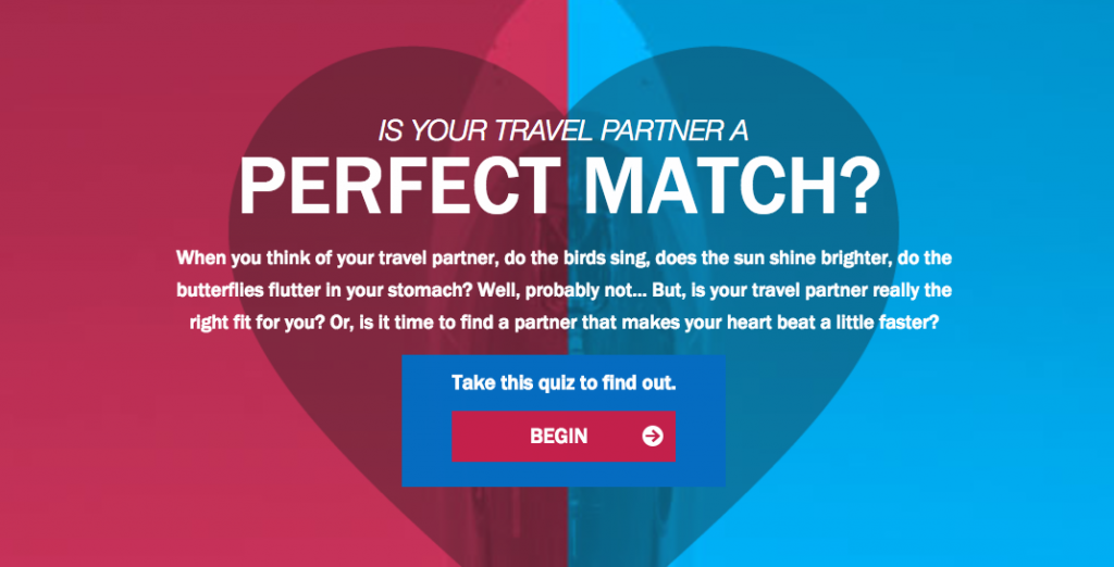 interactive content marketing example orbitz