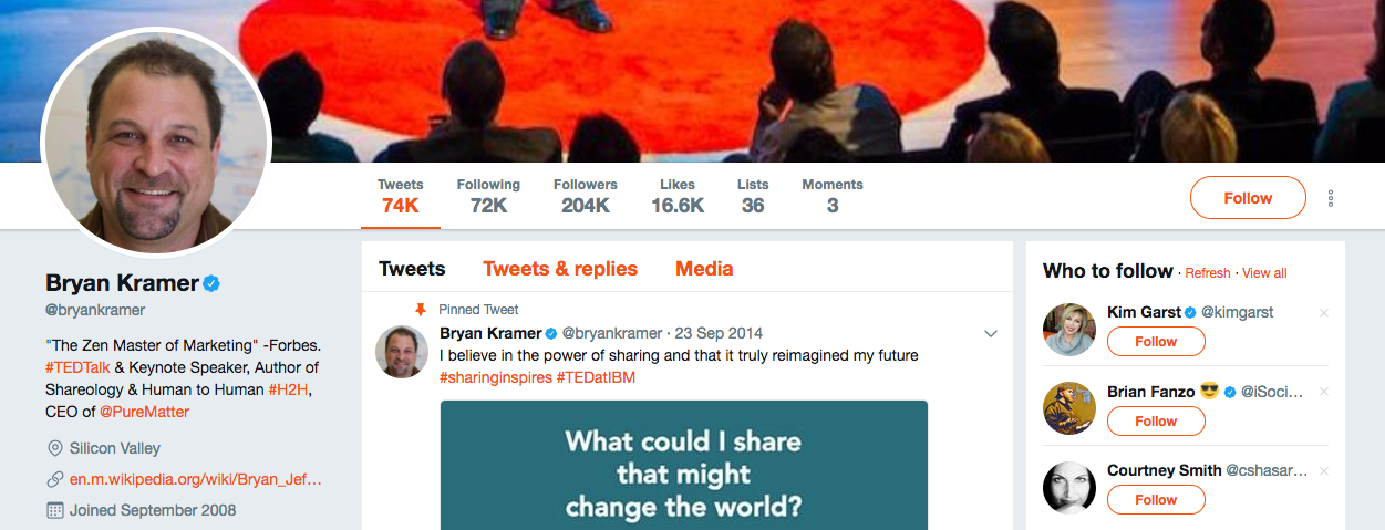 Bryan Kramer Top B2B Influencers