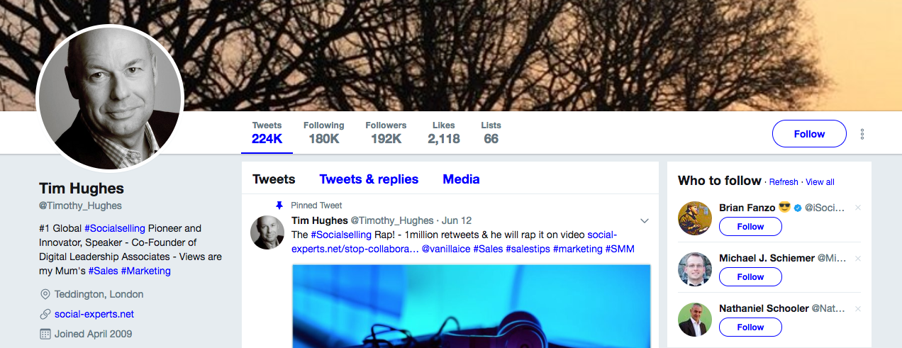 Top B2b Influencers Tim Hughes