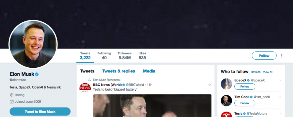 Elon Musk Top Tech Influencers