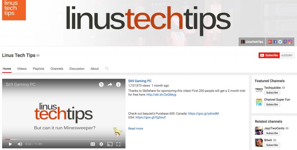 Linus Tech Influencer
