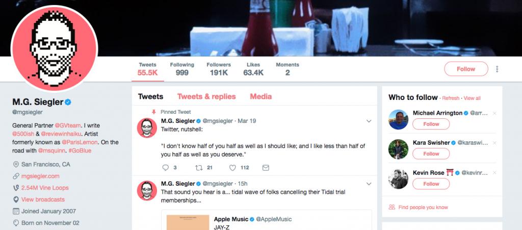 MG Siegler Top Tech Influencer