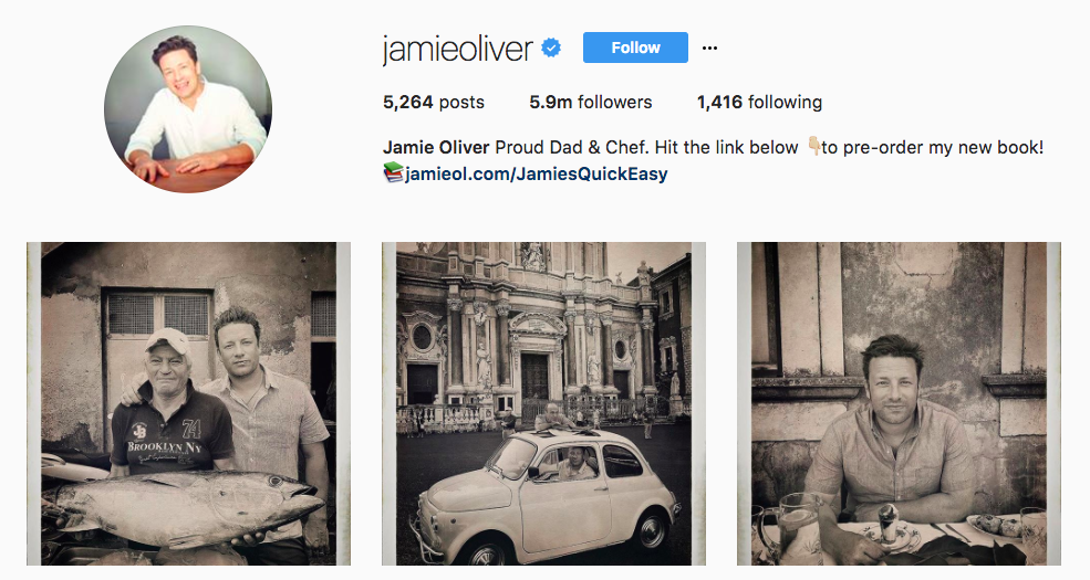 Jamie Oliver Top Foodie Influencers