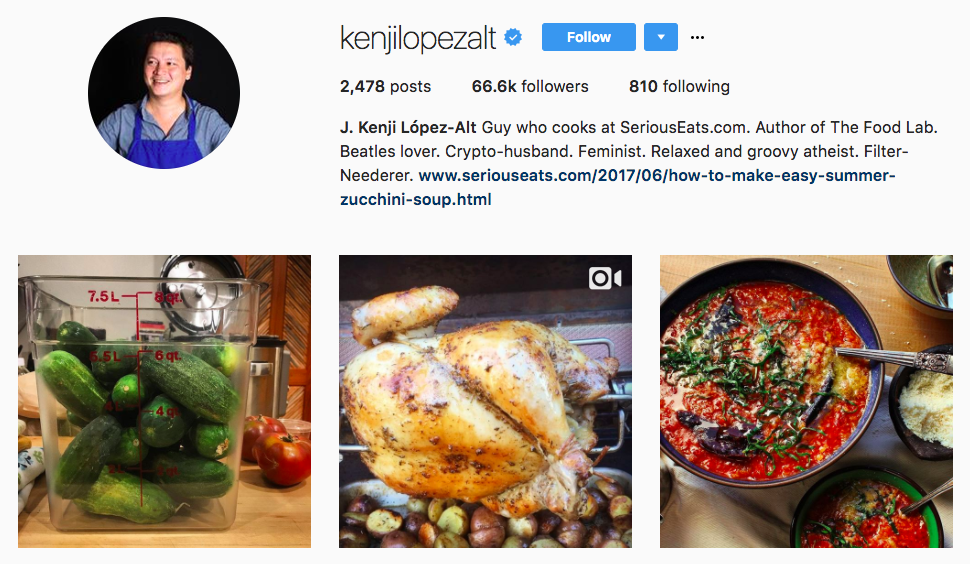 J. Kenji López-Alt Top Foodie Influencer