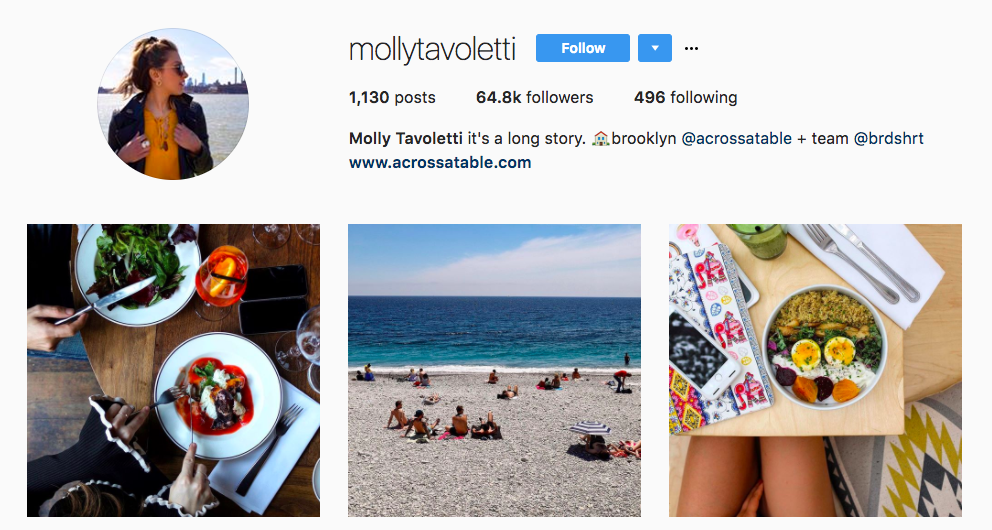 Molly Tavoletti Top Foodie Influencer