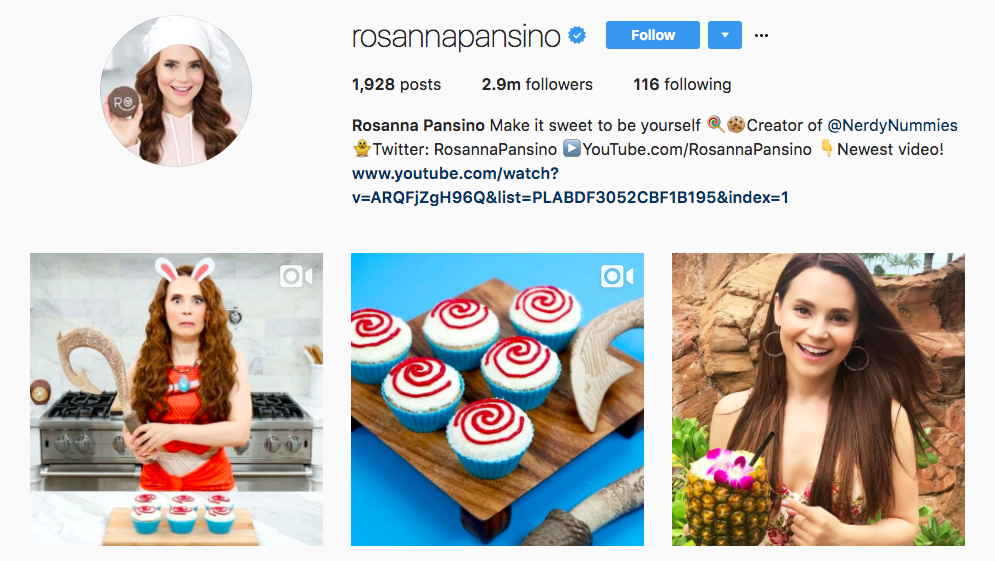 Rosanna Pansino Top Foodie Influencer