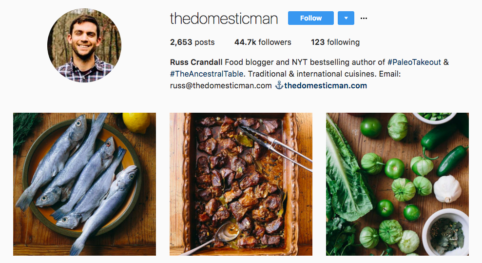 Russ Crandall Top Foodie Influencer