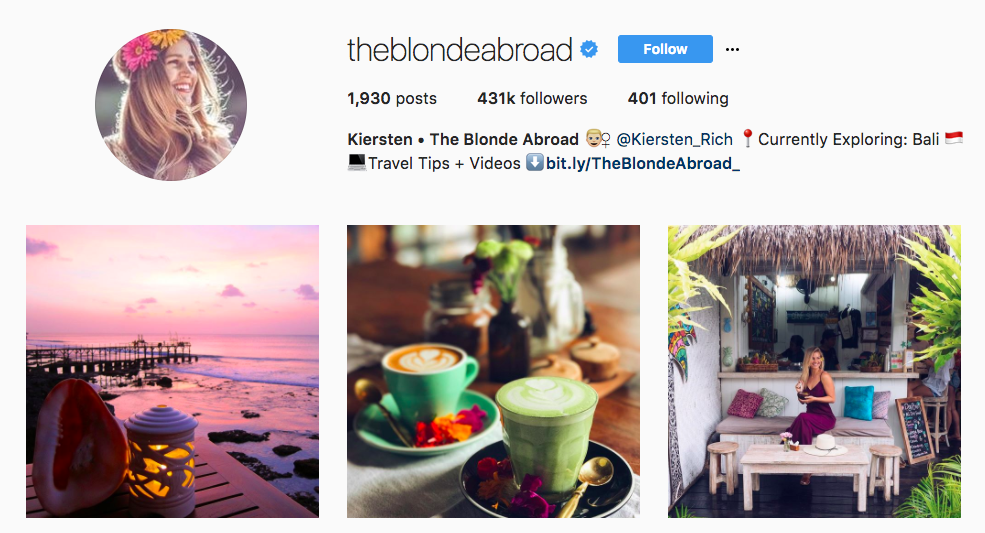 The blone abroad top travel influencer