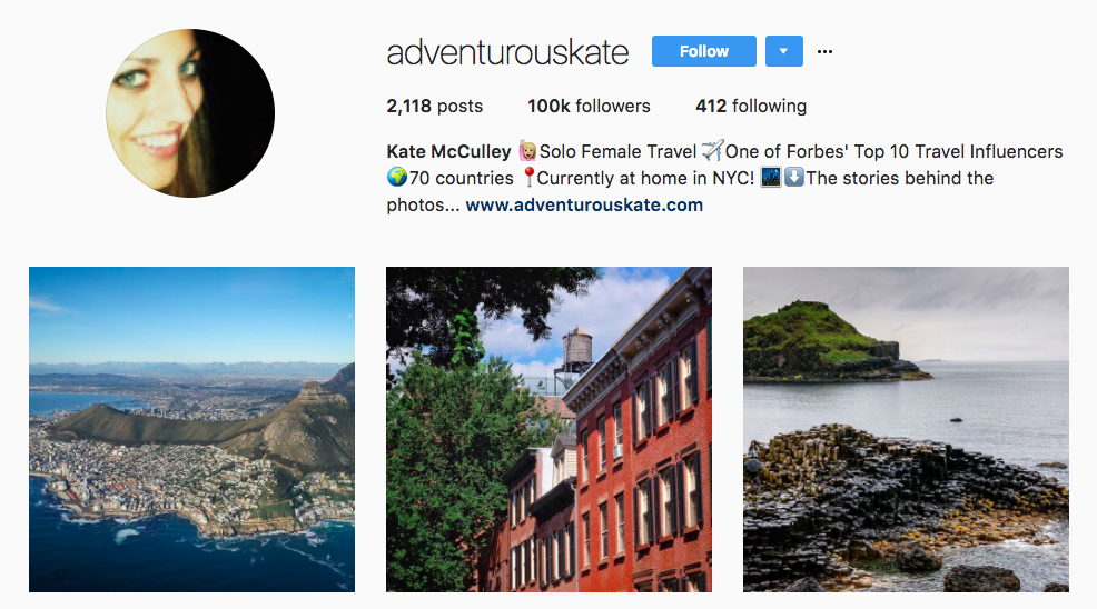 Adventurous Kate Top Travel Influencers