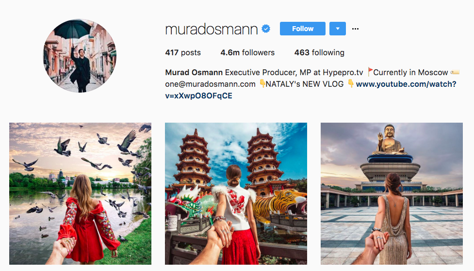 Murad Osmann Top Travel Influencer