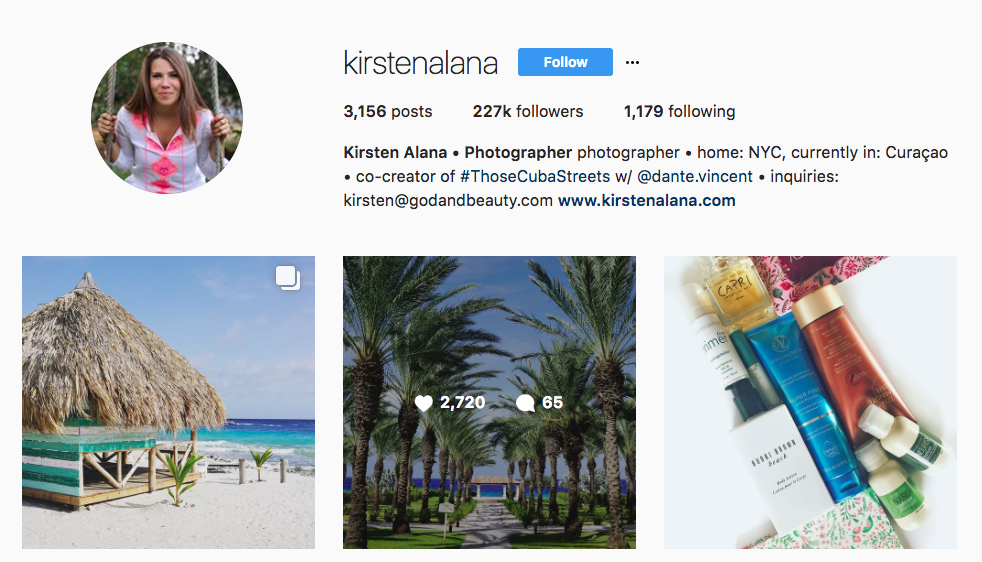 Kristen Alana Top Travel Influencer