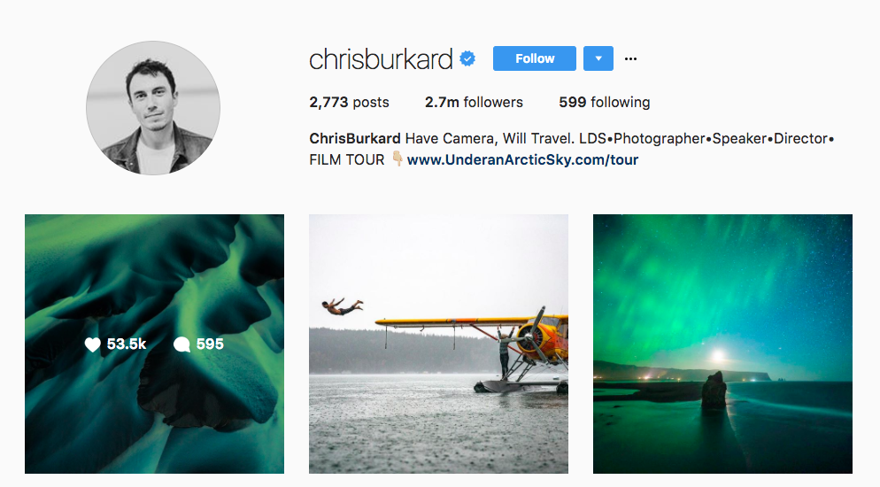 Chris Burkard Top Travel Influencer